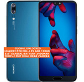huawei p20 eml-l29 6gb 128gb octa core 20mp face id 5.8 android smartphone blue