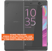 "sony xperia xa ultra f3215 3gb 16gb 21.5mp camera 6.0"" android smartphone black"