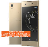 "sony xperia xa1 g3116 3gb 32gb 23mp camera 5.0"" android 4g lte smartphone gold"
