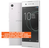 "sony xperia xa1 g3121 3gb 32gb 23mp camera 5.0"" android 4g lte smartphone white"