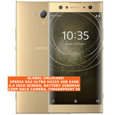 sony xperia xa2 ultra h4233 4gb 64gb 23mp fingerprint android smartphone 4g gold