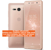 """sony xperia xz2 compact h8324 4gb 64gb 19mp fingerprint id 5.0"""" android pink"""