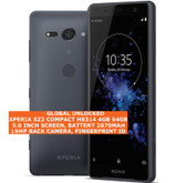 "sony xperia xz2 compact h8314 4gb 64gb 19mp fingerprint id 5.0"" android black"