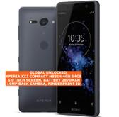 "sony xperia xz2 compact h8314 4gb 64gb 19mp fingerprint id 5.0"" android black"
