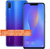 huawei nova 3i lx-2 4gb 128gb octa-core 16mp fingerprint android smartphone blue