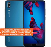huawei p20 eml-l29 4gb 128gb octa core 20mp face id 5.8 android smartphone blue