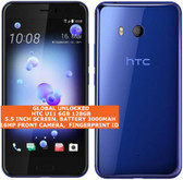 htc u11 6gb 128gb dual sim octa-core 12mp fingerprint android smartphone blue
