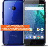 "htc u11 life 3gb 32gb octa-core 16mp fingerprint 5.2"" android 7 smartphone blue"