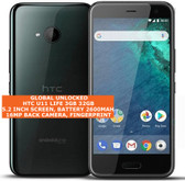 "htc u11 life 3gb 32gb octa-core 16mp fingerprint 5.2"" android 7 smartphone black"