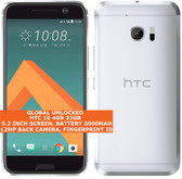 "htc 10 4gb 32gb quad-core 12mp fingerprint id 5.2"" android lte smartphone silver"