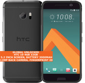 "htc 10 4gb 32gb quad-core 12mp fingerprint id 5.2"" android lte smartphone gray"