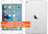apple ipad mini wi-fi 64gb dual-core 5.0mp face detection 7.9 ios tablet white