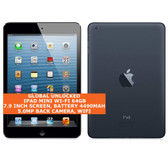apple ipad mini wi-fi 64gb dual-core 5.0mp face detection 7.9 ios tablet black