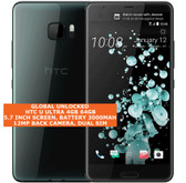 "htc u ultra 4gb 64gb quad-core 12mp fingerprint 5.7"" android smartphone 4g black"