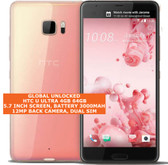 "htc u ultra 4gb 64gb quad-core 12mp fingerprint 5.7"" android smartphone 4g pink"