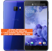 "htc u ultra 4gb 64gb quad-core 12mp fingerprint 5.7"" android smartphone 4g blue"