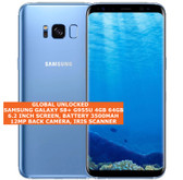 "samsung s8+ g955u usa version 4gb 64gb 12mp fingerprint 6.2"" android lte 4g blue"