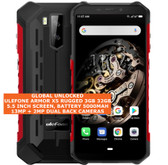 "ulefone armor x5 rugged 3gb 32gb waterproof 13mp face id 5.5"" android lte 4g red"