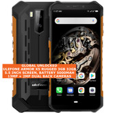 "ulefone armor x5 rugged 3gb 32gb waterproof 13mp face id 5.5"" android orange"