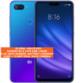 "xiaomi mi 8 lite 6gb 128gb dual sim cards fingerprint id 6.26"" android lte blue"