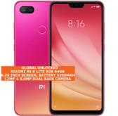 "xiaomi mi 8 lite 6gb 64gb dual sim cards fingerprint 6.26"" android twilight gold"