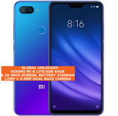 "xiaomi mi 8 lite 6gb 64gb dual sim cards fingerprint 6.26"" android lte blue"