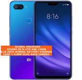 "xiaomi mi 8 lite 4gb 128gb dual sim cards fingerprint 6.26"" android lte blue"