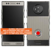 red hydrogen one 6gb 128gb octa-core 12.3mp holographic video 5.7 android silver