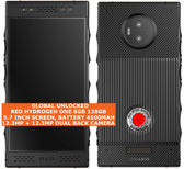 red hydrogen one 6gb 128gb octa-core 12.3mp holographic video 5.7 android black