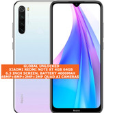 xiaomi redmi note 8t 4gb 64gb dual sim 48mp quad ai face id 6.3 android 4g white
