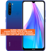 xiaomi redmi note 8t 4gb 64gb dual sim 48mp quad ai face id 6.3 android 4g blue