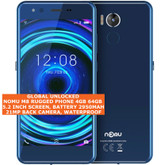 nomu m8 rugged 4gb 64gb waterproof 21mp fingerprint 5.2 android smartphone blue