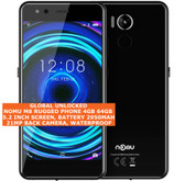 nomu m8 rugged 4gb 64gb waterproof 21mp fingerprint 5.2 android smartphone black