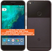 "google pixel 4gb 128gb quad-core 12mp fingerprint 5.0"" android smartphone black"