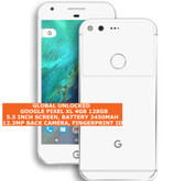 google pixel xl 4gb 128gb quad core 12mp fingerprint 5.5 android smartphone white