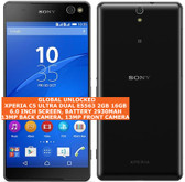 "sony xperia c5 ultra dual e5563 2gb 16gb 13mp dual sim 6.0"" android lte black"