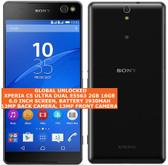 "sony xperia c5 ultra dual e5563 2gb 16gb 13mp dual sim 6.0"" android lte black"