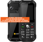 agm m3 rugged russian keyboard waterproof dust proof dual sim mobile phone black