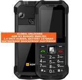 agm m3 rugged english keyboard waterproof dust proof dual sim mobile phone black