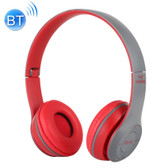 p47 foldable wireless bluetooth 3.5mm audio jack support mp3 fm headphone red