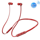 bluetooth 5.0 earphone neck-mounted wire magnetic adsorption function red