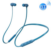 bluetooth 5.0 earphone neck-mounted wire magnetic adsorption function blue