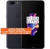 "oneplus 5 6gb 64gb octa-core 20mp fingerprint 5.5"" android smartphone slate gray"