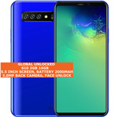 "s10 2gb 16gb quad core 5.0mp face Id dual sim 5.5"" android 3g smartphone blue"