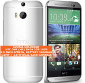 htc one (m8) emea 2gb 16gb quad-core 4.0mp led flash 5.0 android 4g lte silver
