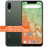 "umidigi a3x 3gb 16gb quad core 16mp fingerprint 5.7"" android 10 smartphone green"