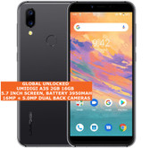 "umidigi a3s 2gb 16gb quad core 16mp face id dual sim 5.7"" android 10 lte grey"