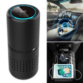 e-f1 car anion air usb aromatherapy hepa car air purifier panel gesture control