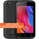 "kxd w41 quad core 3.0mp camera 4.0"" dual sim android 9.0 3g smartphone black"