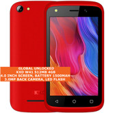 "kxd w41 quad core 3.0mp camera 4.0"" dual sim android 9.0 3g smartphone red"